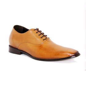 Zapato Formal Elegant Café Claro Max Denegri +7cm de Altura_72916