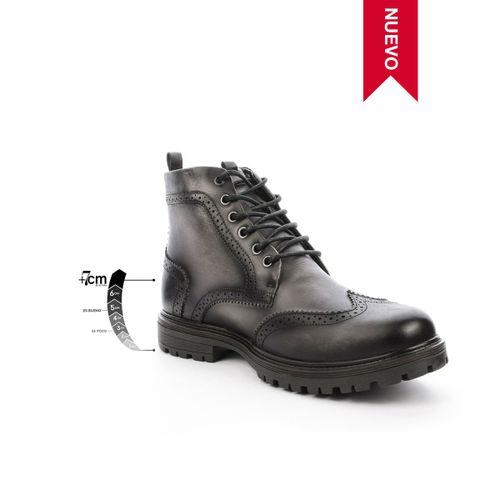 Botín Casual Soho Negro Max Denegri + 7cms de Altura