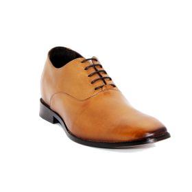 Zapato Formal Elegant Café Claro Max Denegri +7cm de Altura_72716