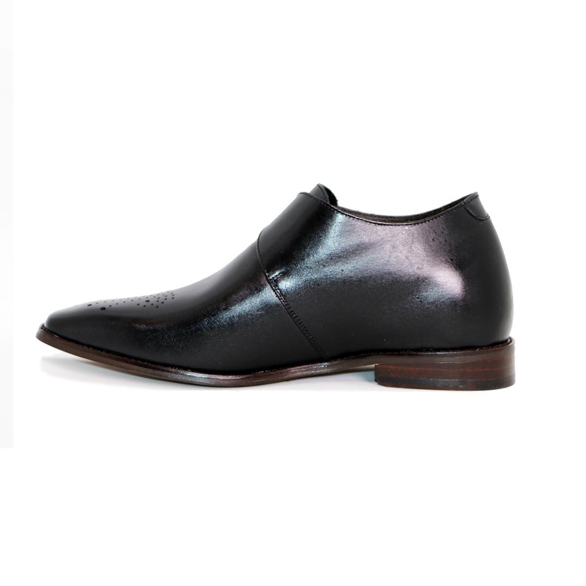 Zapato Formal Gentleman Negro Max Denegri +7cms De Altura_72724