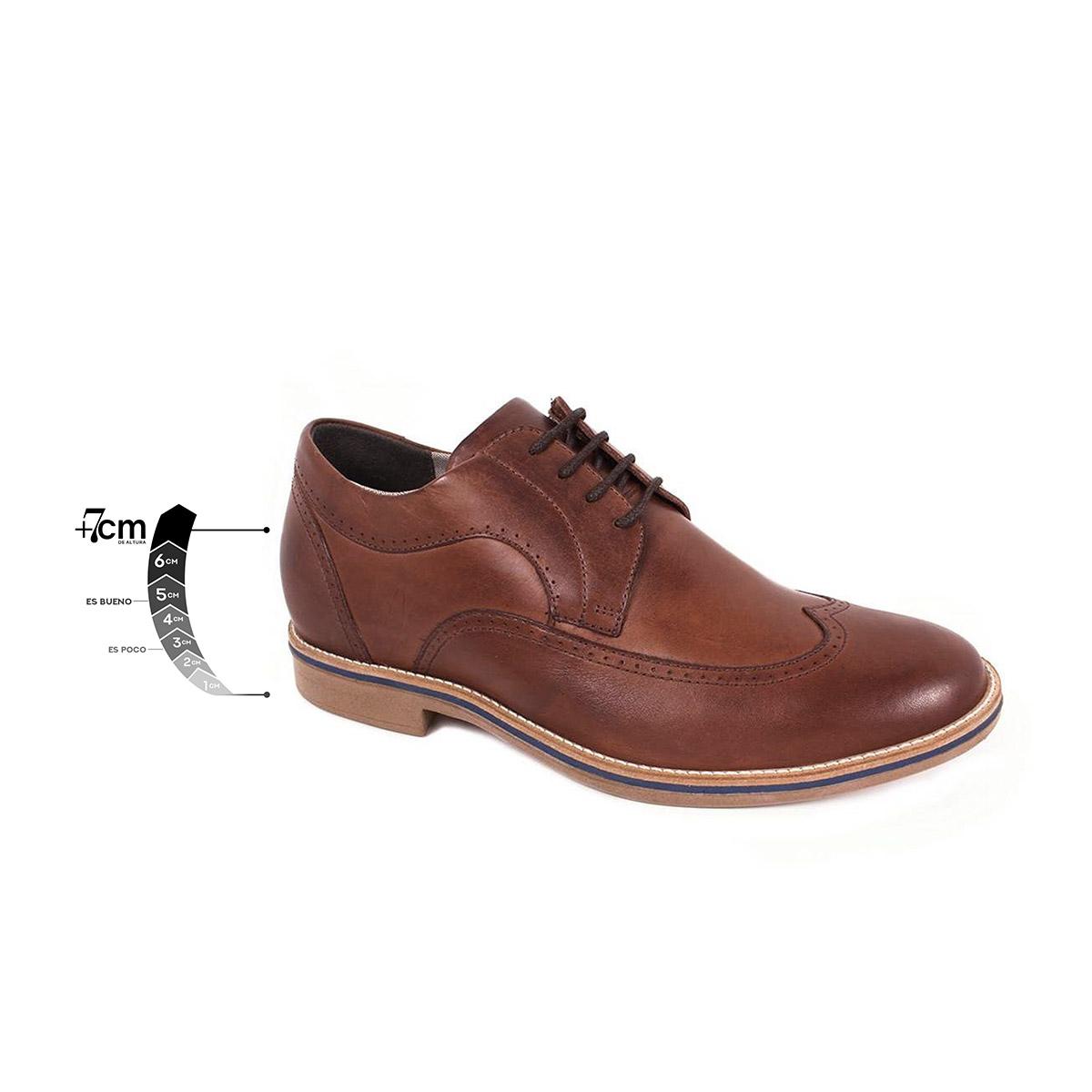 Zapato Casual Oxford Café Oscuro Max Denegri +7cm de Altura_75295