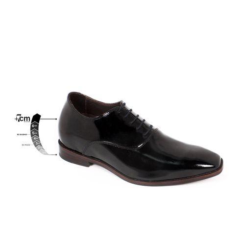 Zapato Formal Elegant Charol Negro Max Denegri +7cms de Altura