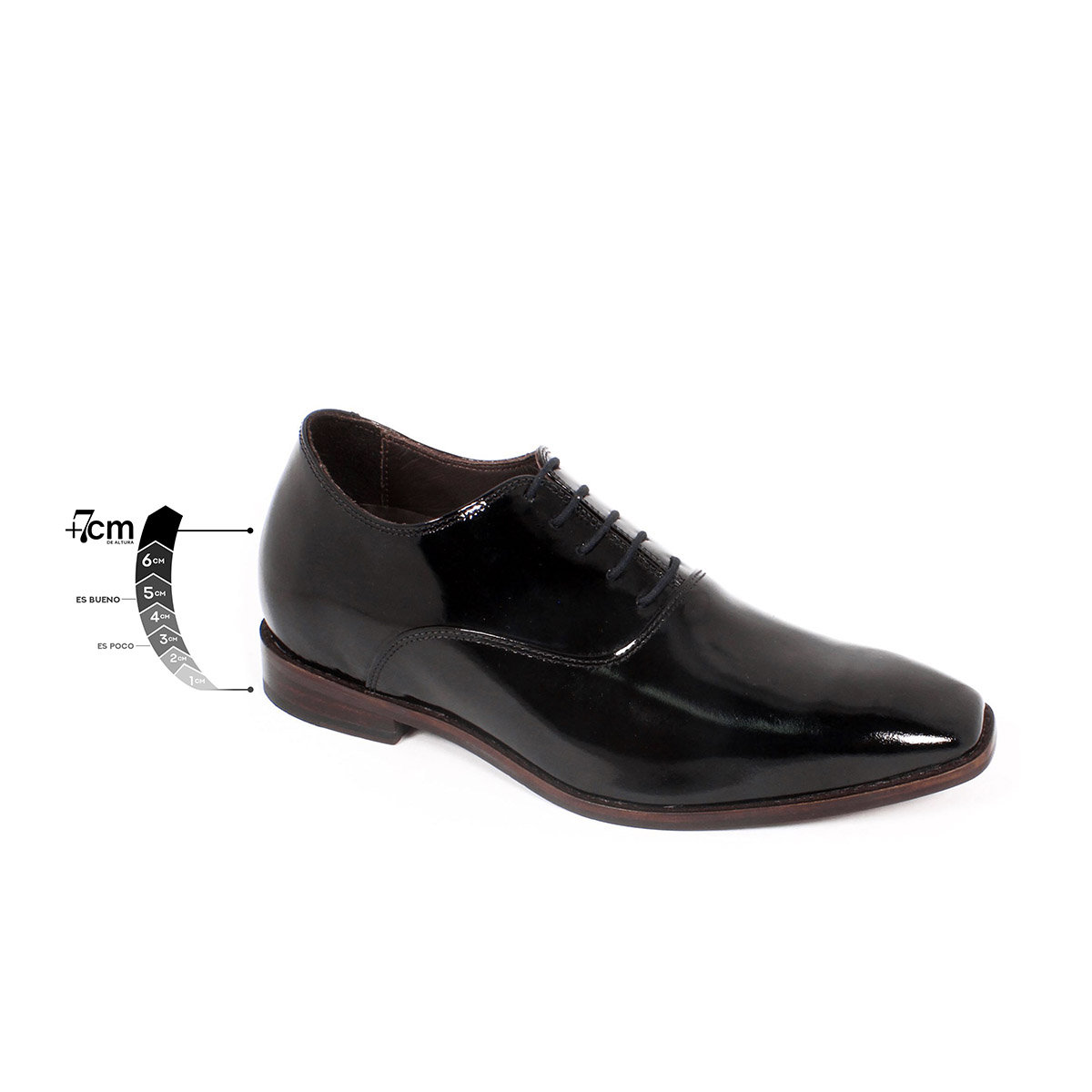Zapato Formal Elegant Charol Negro Max Denegri +7cms de Altura_75310