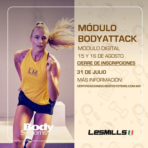Módulo Inicial BodyAttack 2020 el 15 y 16 agosto (ON LINE)