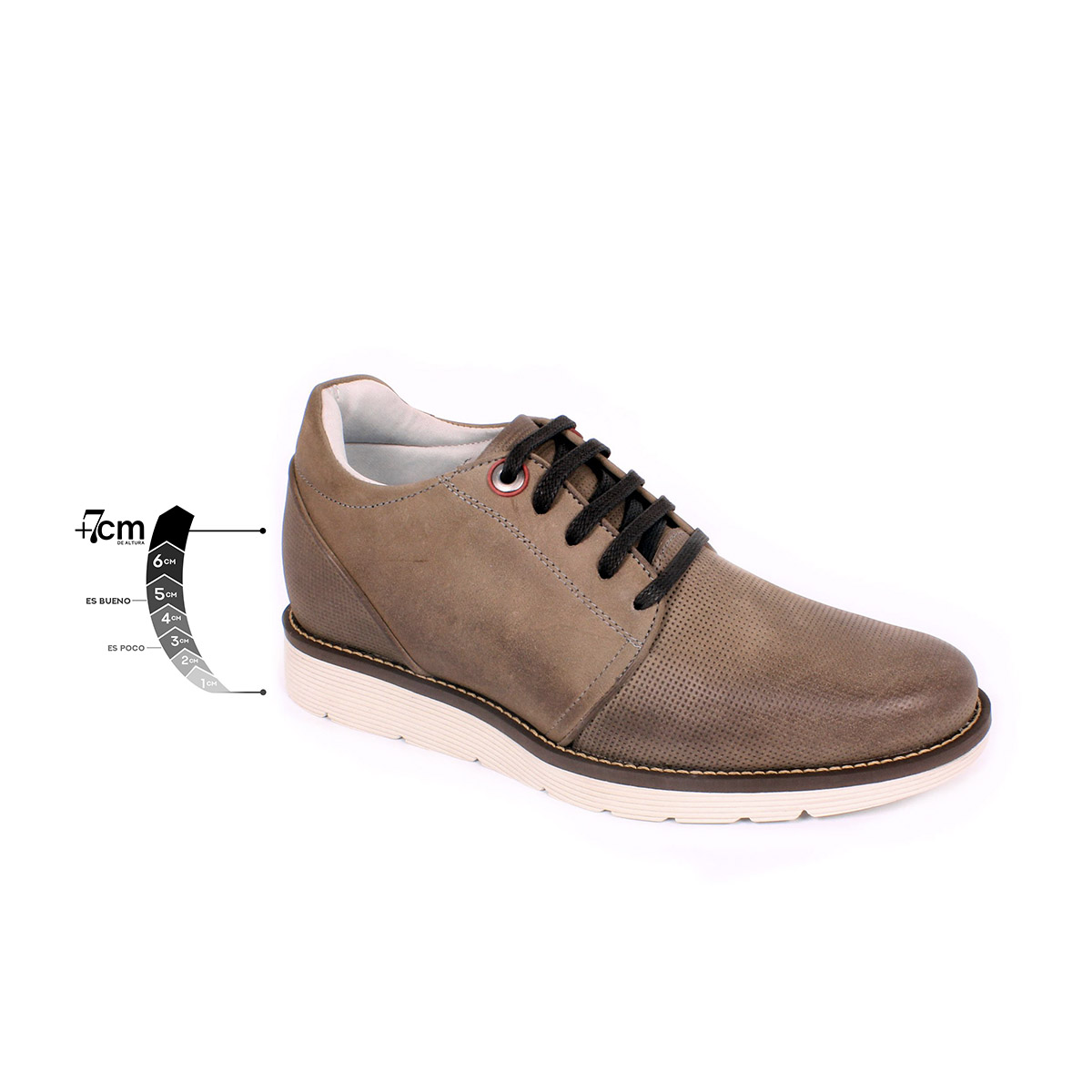 Zapato Casual Avenue Gris Max Denegri +7cms de Altura_75286