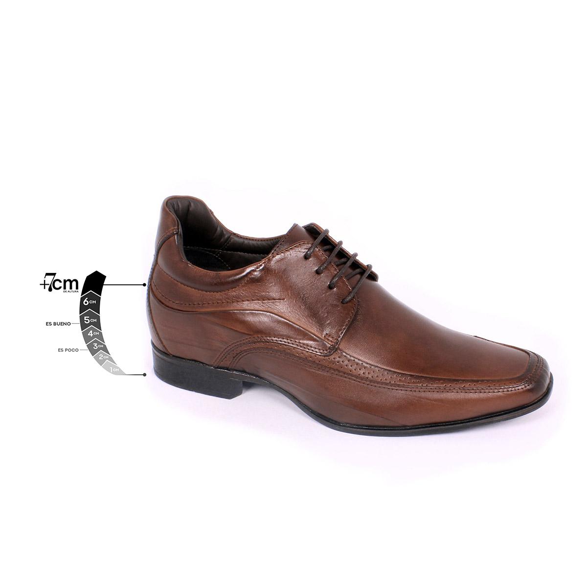Zapato Formal Manager Café Max Denegri +7cms de Altura_75318