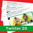 Paquete de contenidos para Twitter 20