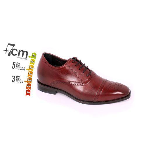 Zapato Formal British Vino Max Denegri +7cm de Altura