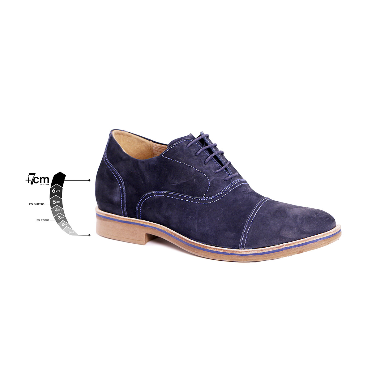 Zapato Casual Hippie Azul Max Denegri +7cms De Altura_75294