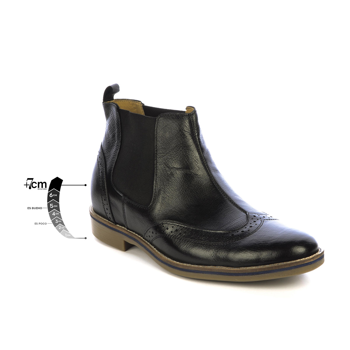 Botín Casual Empire Negro Max Denegri + 7 cms de Altura_77490