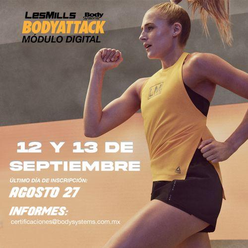 Modulo Inicial BodyAttack 2020 el 12 y 13 septiembre (ON LINE)