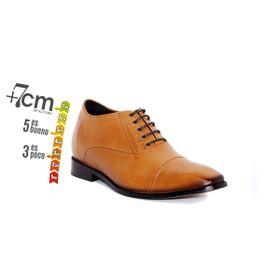 Zapato Formal Director Café Claro Max Denegri +7cms de Altura_74146