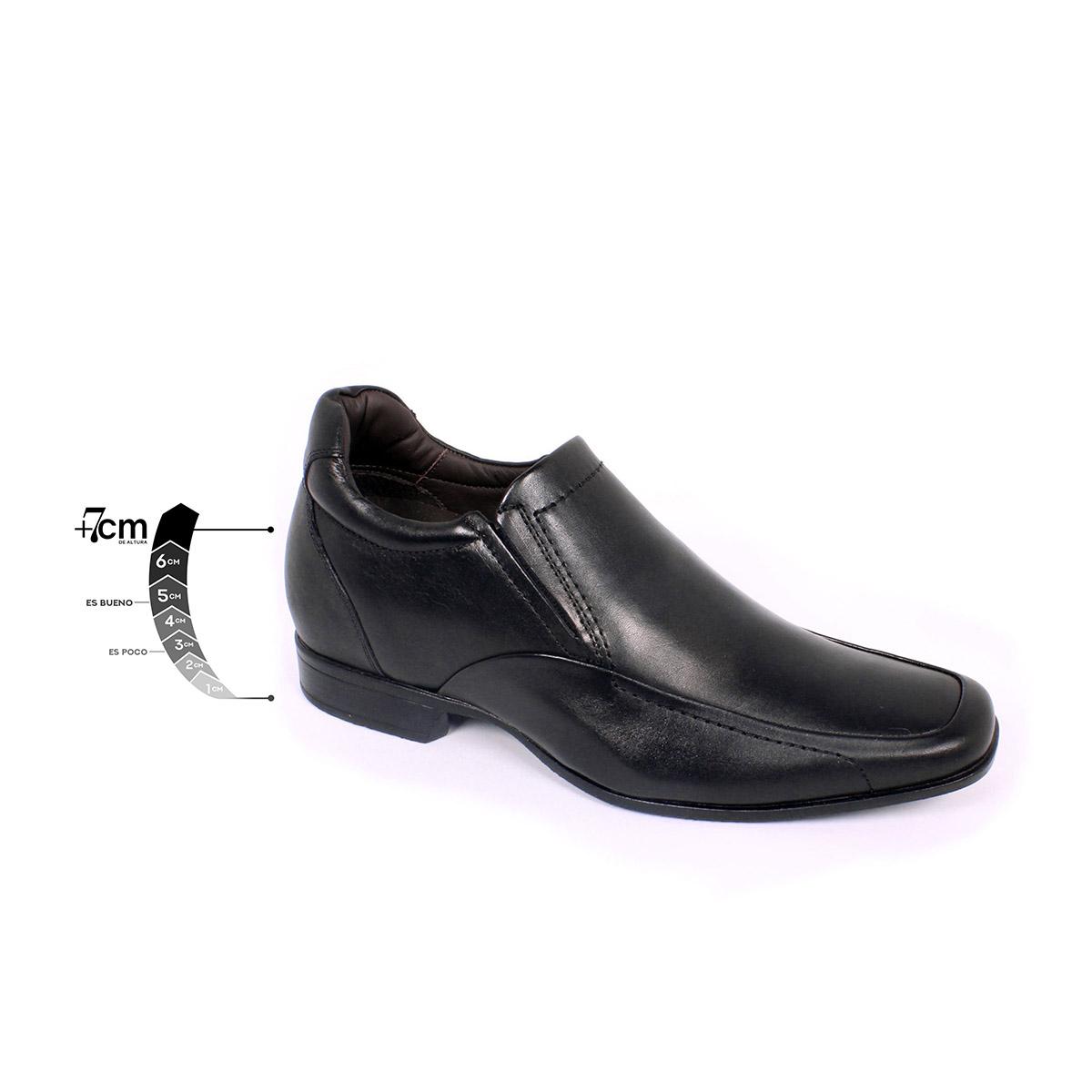 Zapato Formal Tabaco Negro Max Denegri +7cms de Altura_75323