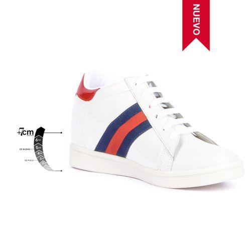 Tenis Casual Wild Blanco Max Denegri +7cms de Altura