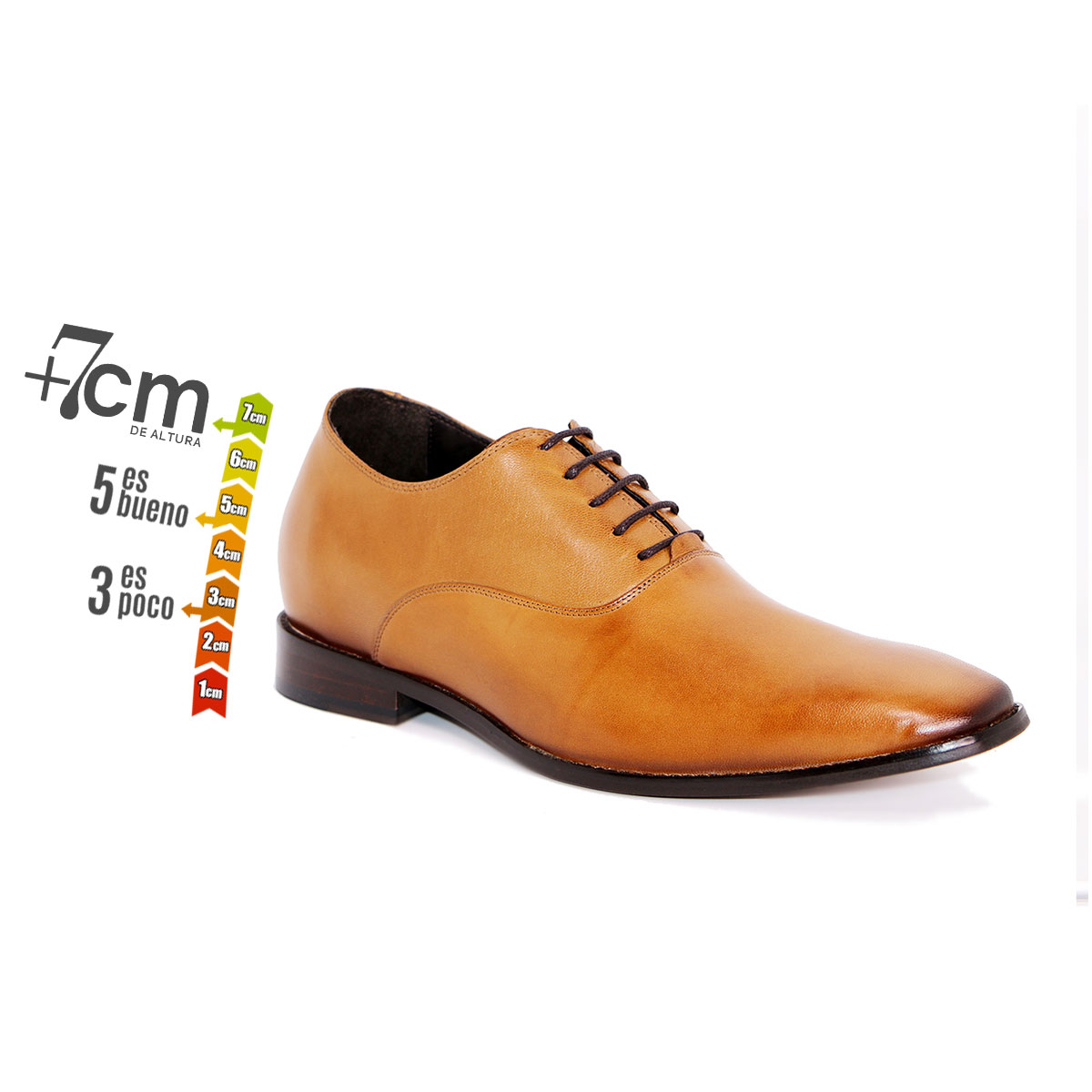 Zapato Formal Elegant Café Claro Max Denegri +7cm de Altura_74149