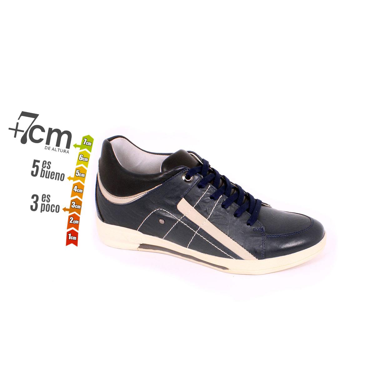 Zapato Casual Street Azul Max Denegri +7cm de Altura_74114
