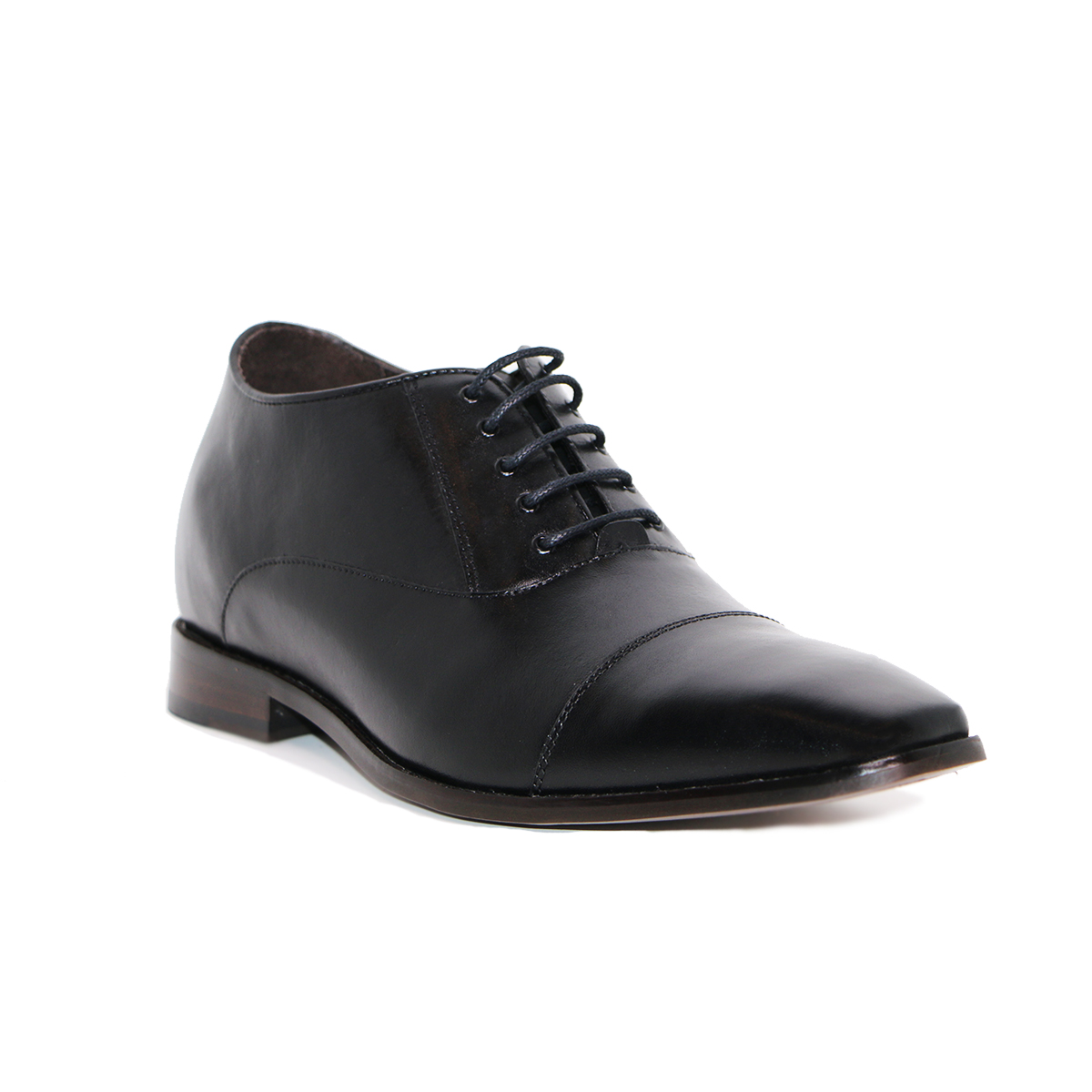 Zapato Formal Director Negro Max Denegri +7cms De Altura_72908