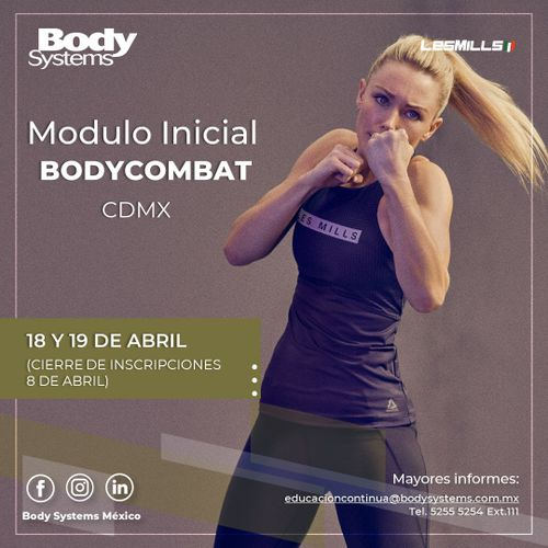 Módulo Inicial BodyCombat 2020 en Ciudad de México 18 y 19 abril