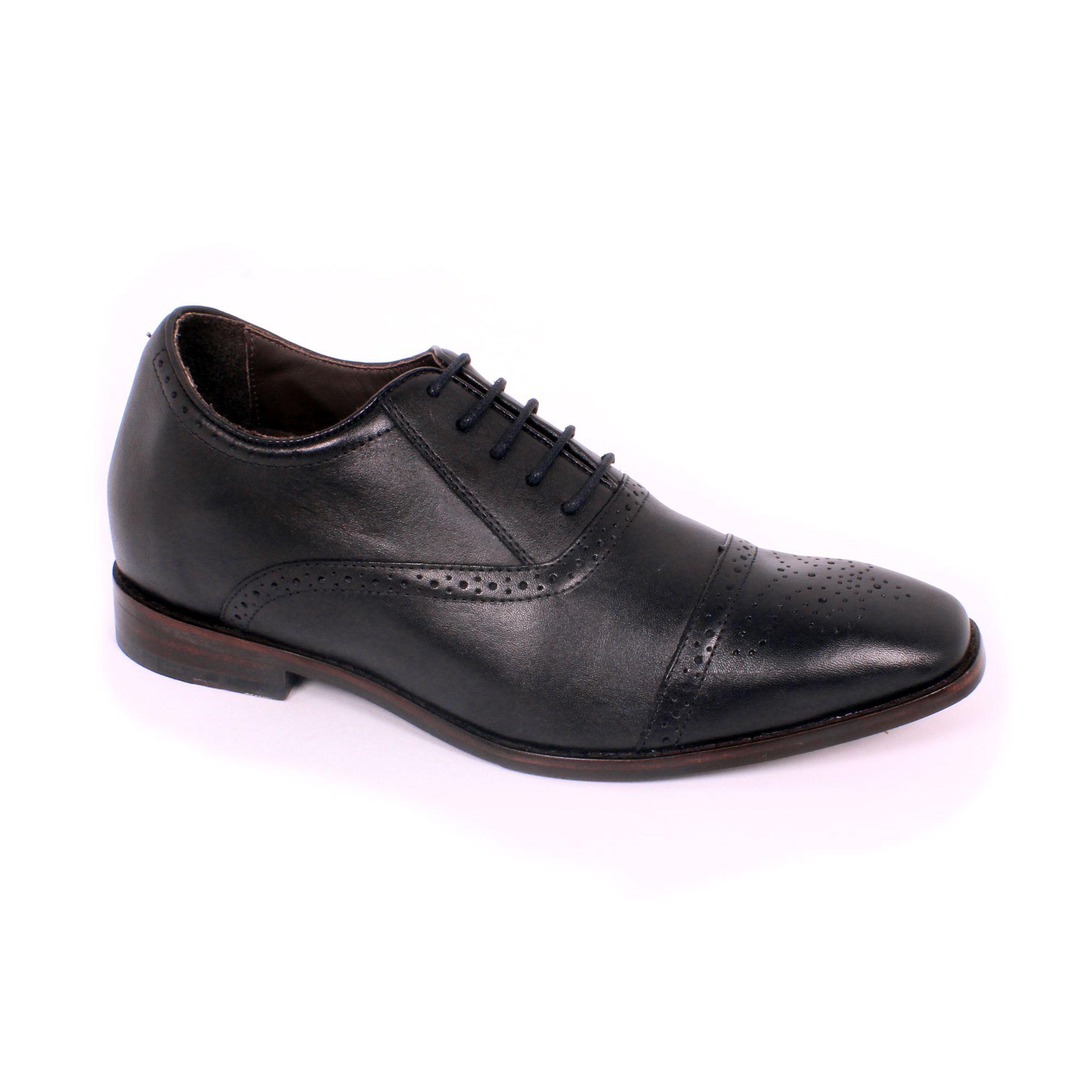 Zapato Formal British Negro Max Denegri +7cms de Altura_70779