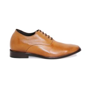 Zapato Formal Elegant Café Claro Max Denegri +7cm de Altura_72717