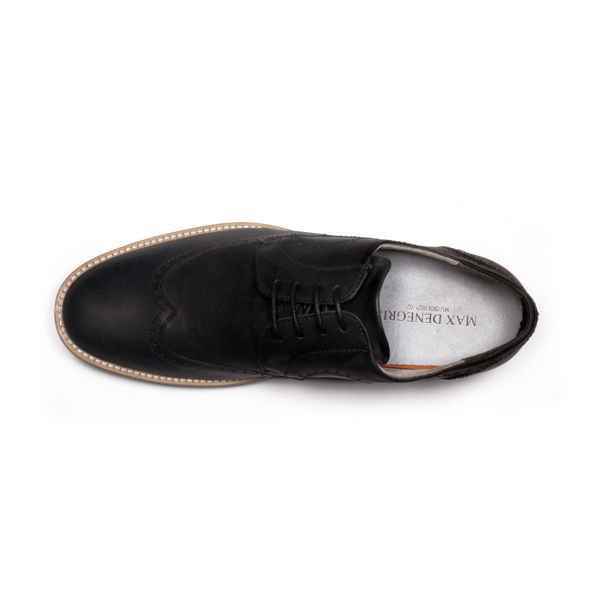 Zapato Casual Oxford Negro Max Denegri +7cm de Altura_70898