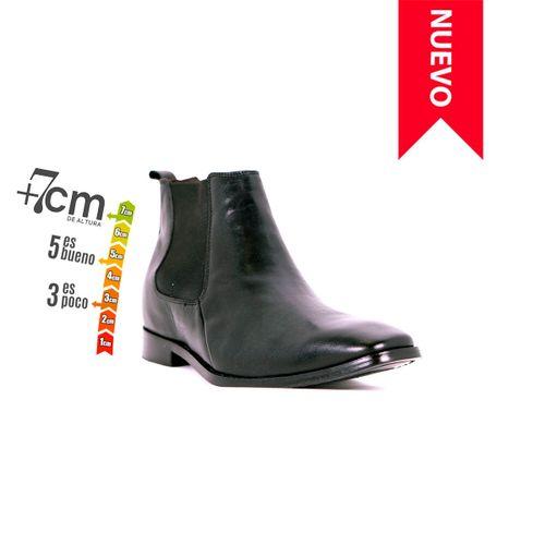 Botín Lord Negro Max Denegri + 7cms de Altura