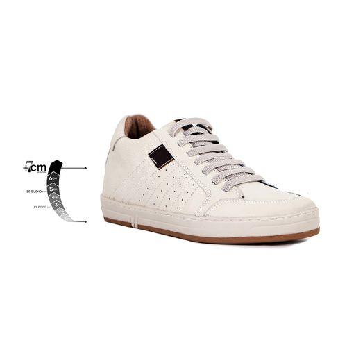 Tenis Derby Blanco Max Denegri +7cms de Altura