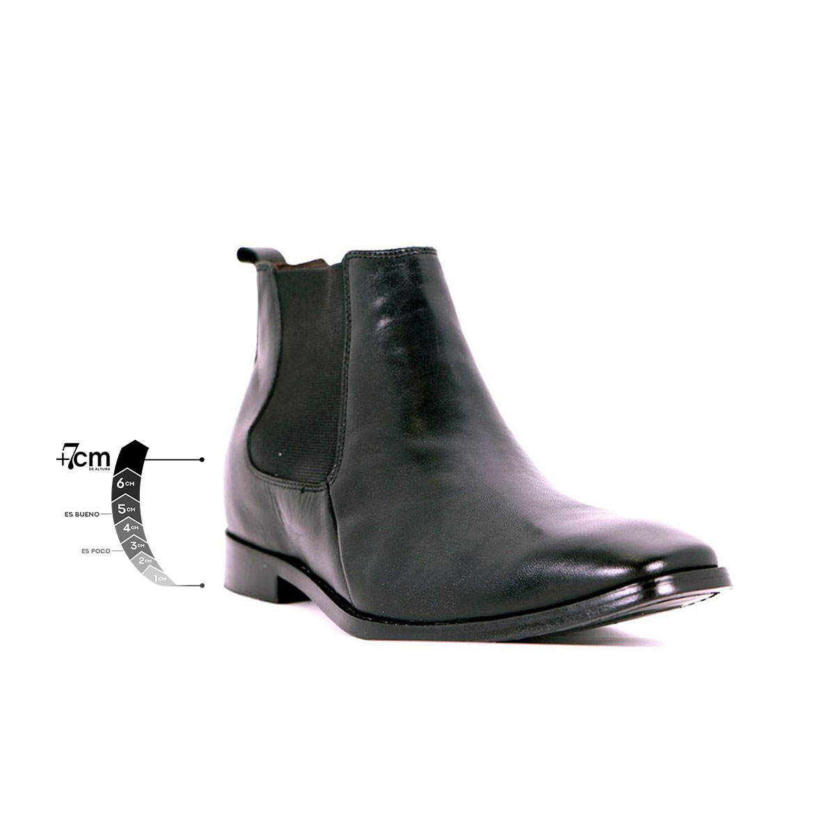 Botín Formal Lord Negro Max Denegri +7cms de Altura_76283