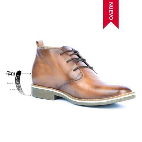 Botín Casual Indiana Miel Max Denegri + 7cms de Altura