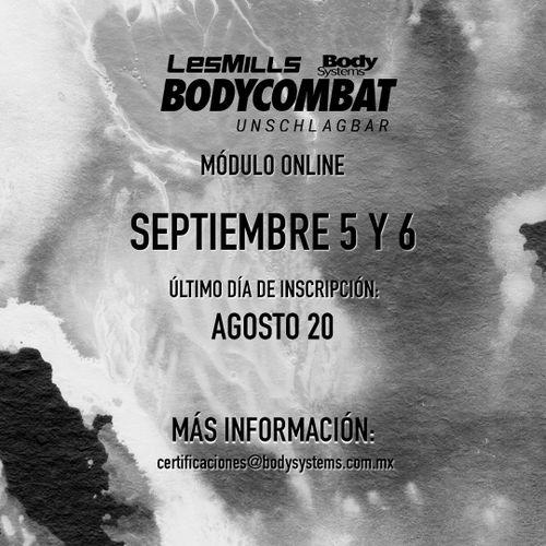Modulo Inicial BodyCombat 2020 el 5 y 6 Septiembre (ON LINE)