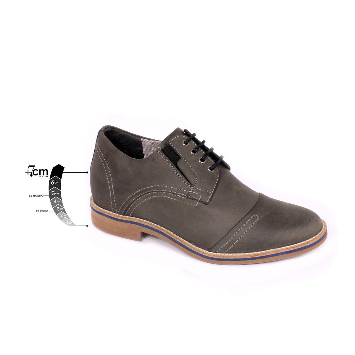 Zapato Casual Trend Gris Petroleo Max Denegri +7cms de Altura_75297