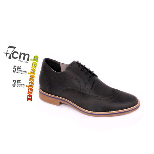 Zapato Casual Oxford Negro Max Denegri +7cm de Altura