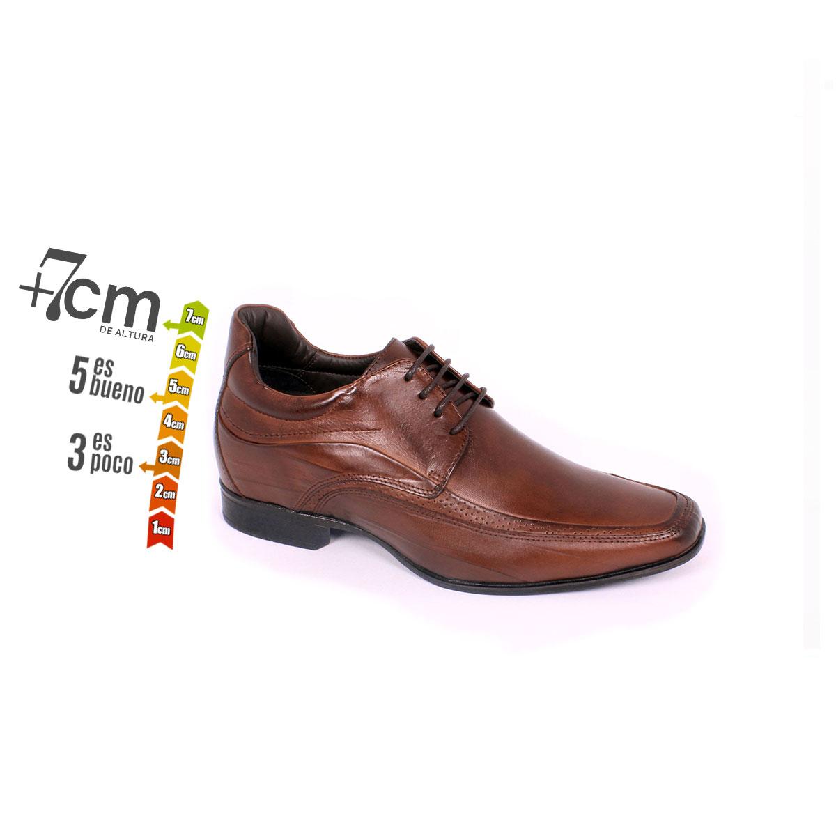 Zapato Formal Manager Café Max Denegri +7cm de Altura_74157