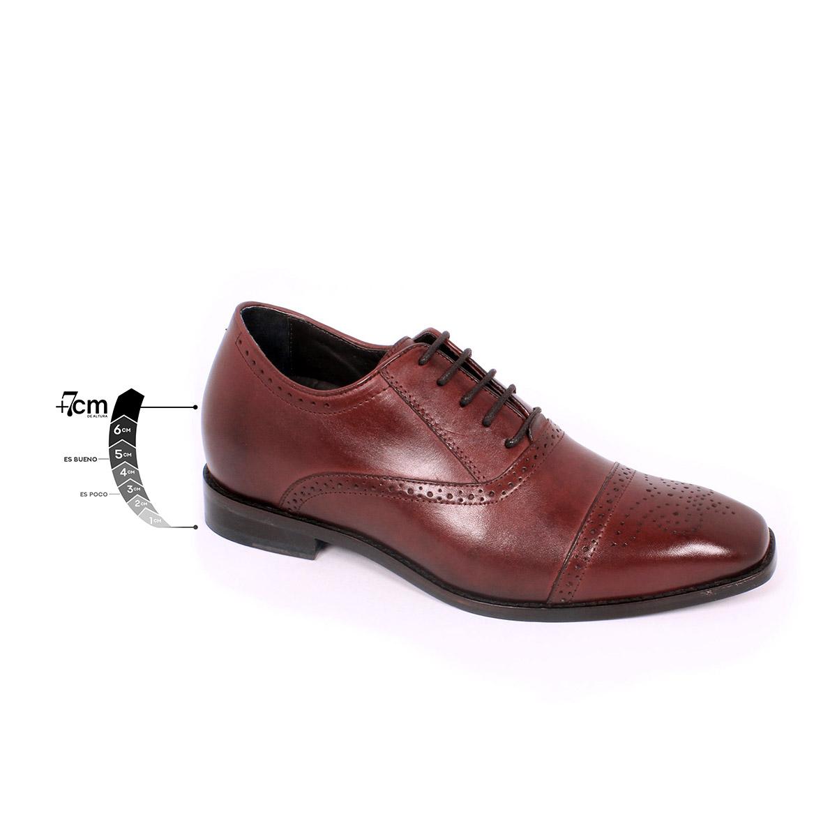 Zapato Formal British Vino Max Denegri +7cms de Altura_75303