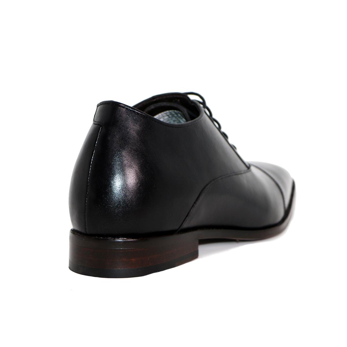 Zapato Formal Director Negro Max Denegri +7cms De Altura_72713