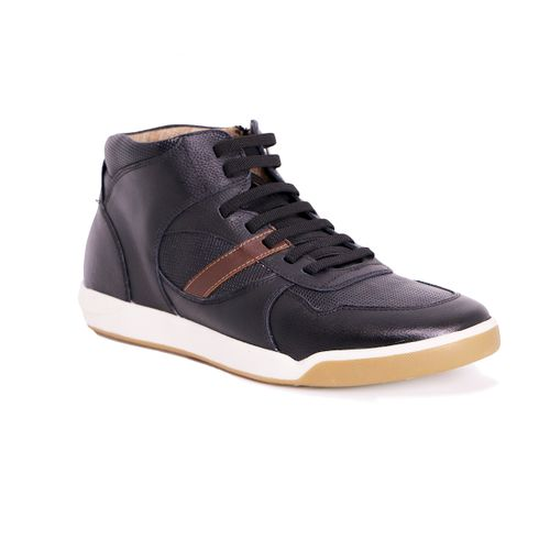 Tenis District Negro +7cm de Altura