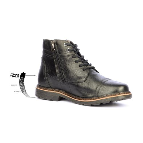 Botin Casual Outlander Negro + 7 cms de Altura