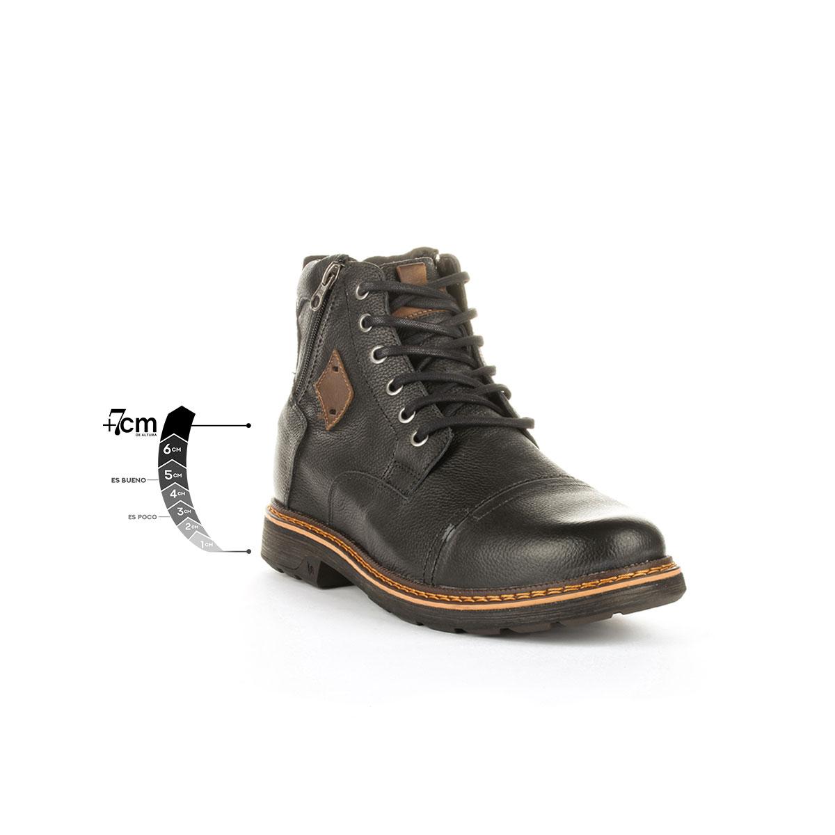 Botín Highlander Negro Max Denegri +7cms de Altura._76282