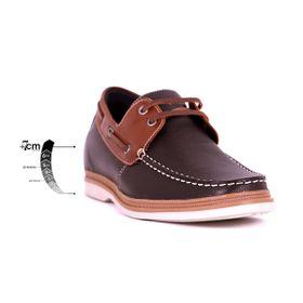 Zapato Casual Walk Café/Café Max Denegri +7cms de Altura_75299
