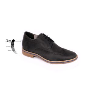Zapato Casual Oxford Negro Max Denegri +7cms de Altura