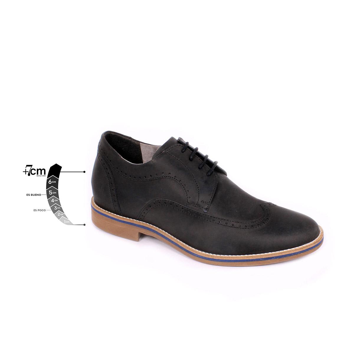 Zapato Casual Oxford Negro Max Denegri +7cms de Altura_75296