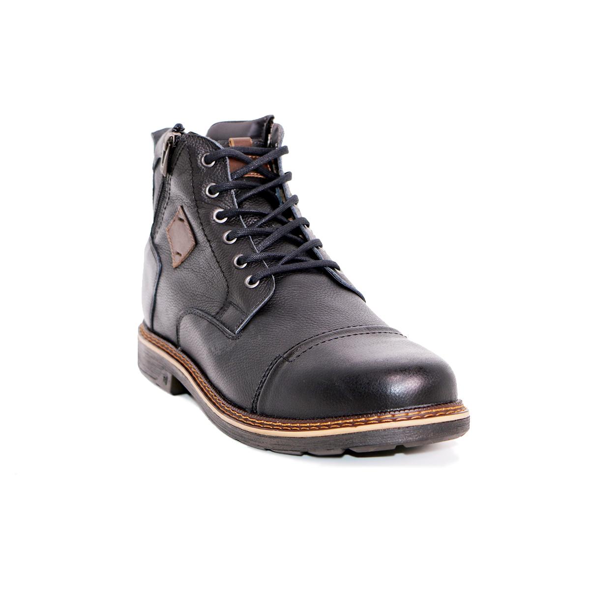 Botín Highlander Negro Max Denegri +7cms de Altura._72666