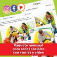 Paquete avanzado de piezas de contenidos para redes sociales, con stories y video