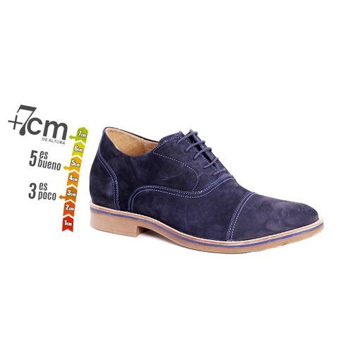 Zapato Casual Hippie Azul Max Denegri +7cms de Altura