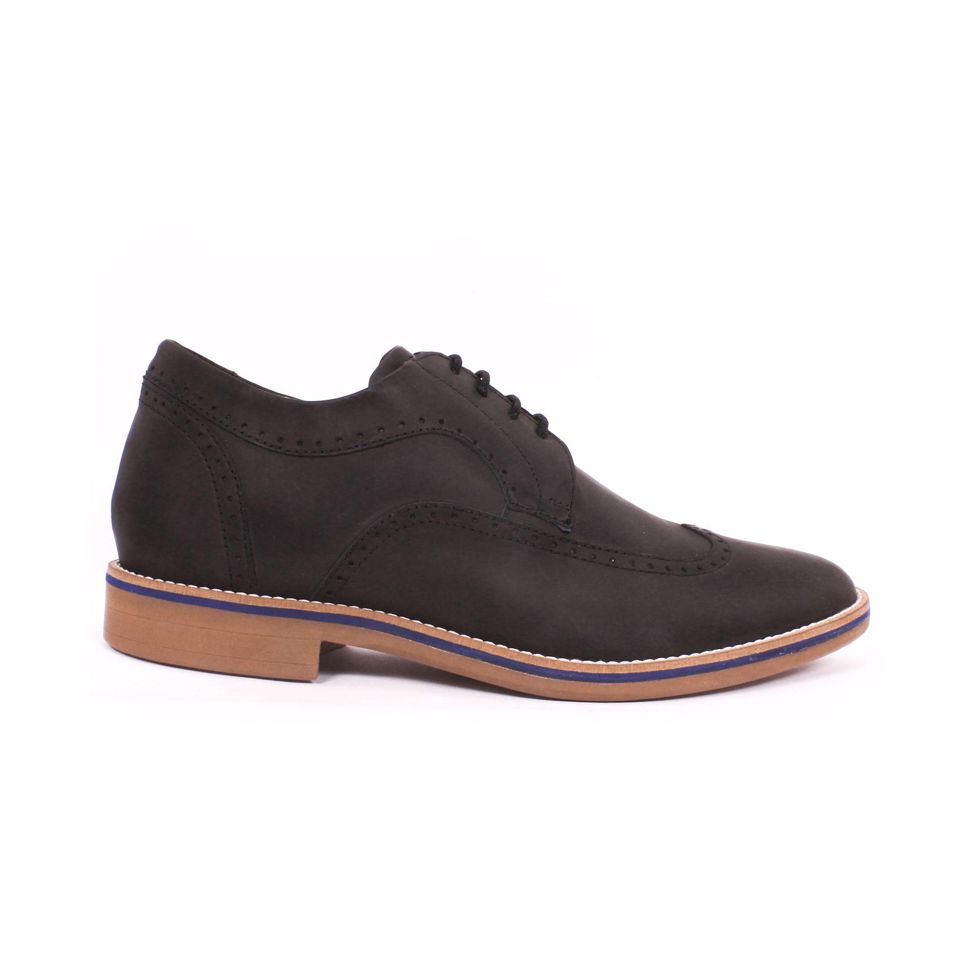 Zapato Casual Oxford Negro Max Denegri +7cm de Altura_70896