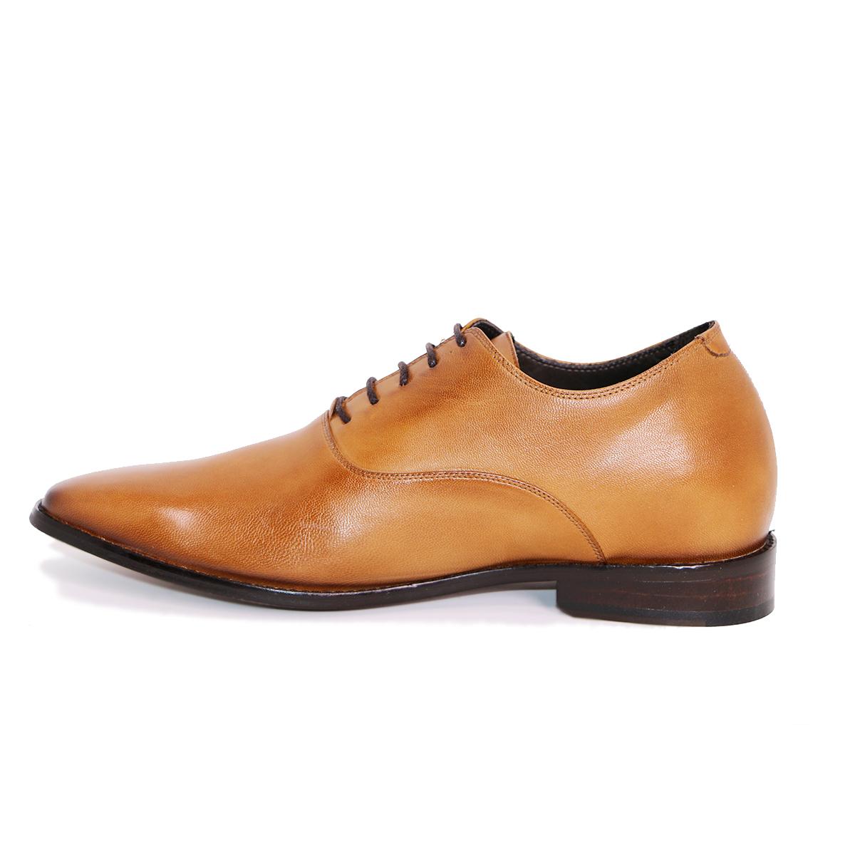 Zapato Formal Elegant Café Claro Max Denegri +7cm de Altura_72718
