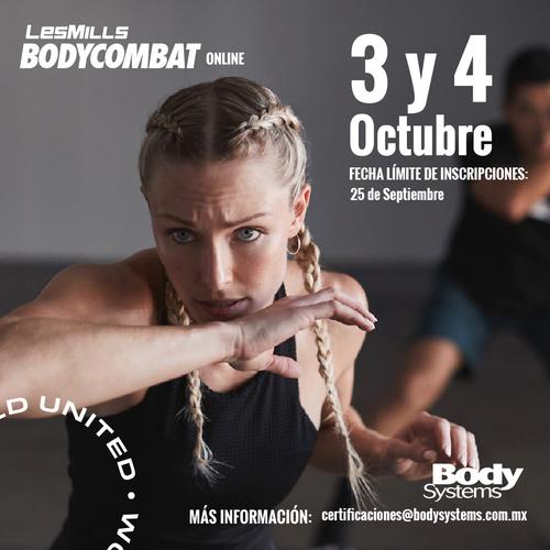 Módulo Inicial BodyCombat 2020 el 3 y 4 Octubre (ON LINE)