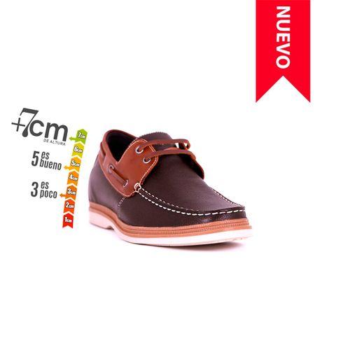 Zapato Casual Walk Café/Café Max Denegri +7cms de Altura