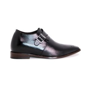 Zapato Formal Gentleman Negro Max Denegri +7cms De Altura_72723