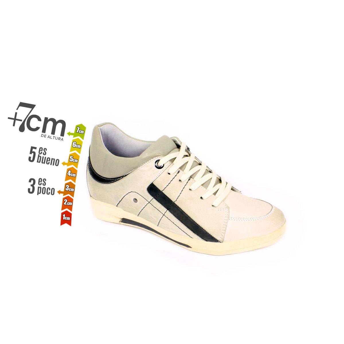 Tenis Street Gris Claro Max Denegri + 7 cm de Altura_74130